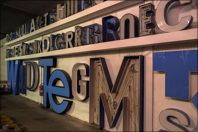 Buchstabenmuseum Berlin Detail III © Bernd Wonde
