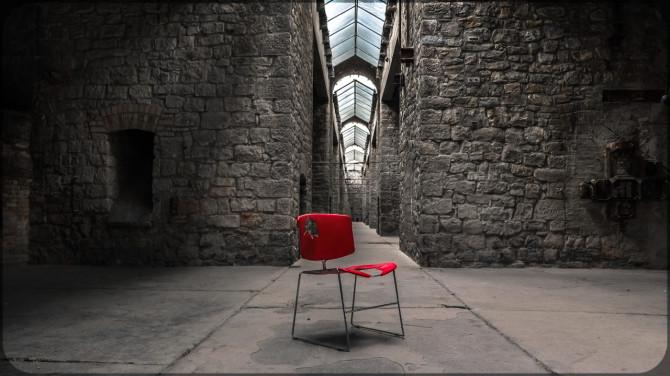 Kalkwerk Rüdersdorf roter Stuhl Oberlichter © Bernd Wonde
