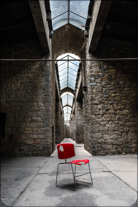 Kalkwerk Rüdersdorf roter Stuhl Oberlichter II © Bernd Wonde