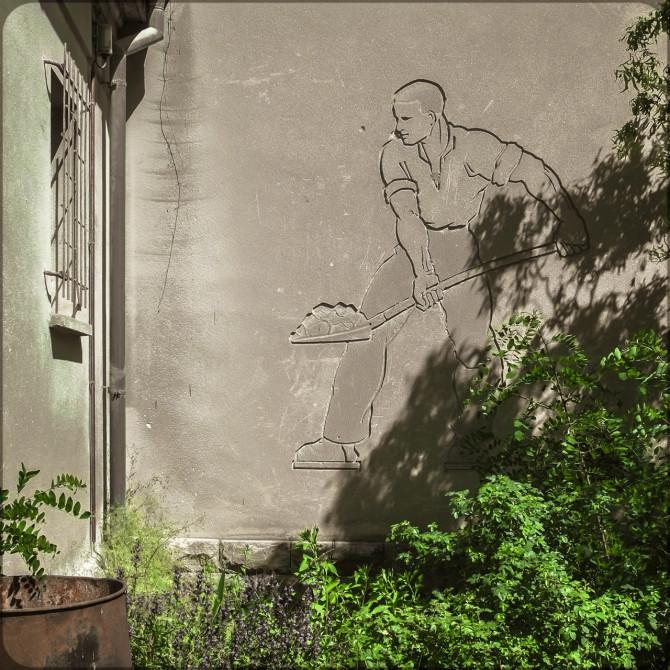 Kalkwerk Rüdersdorf Verwaltung Relief © Bernd Wonde