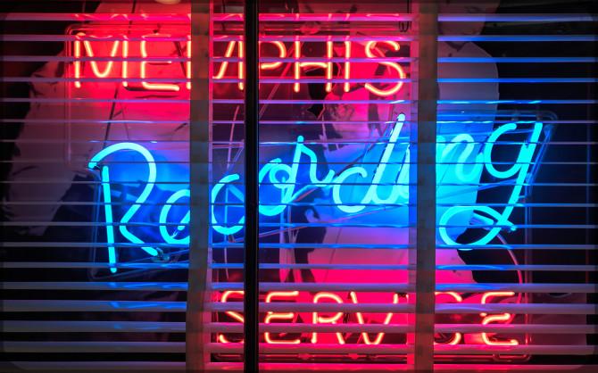 Memphis Sun Studio Leuchtschrift © Bernd Wonde